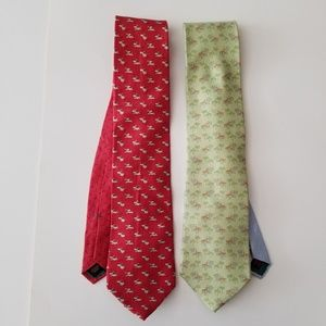 Tommy Hilfiger | Lot of 2 Icon Neck Ties Palms Dog